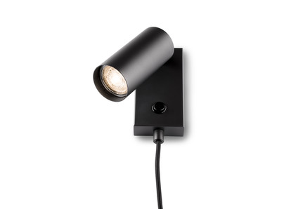 single adjustable surface mounted downlighter with switch and cable  gu10 230V